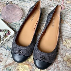 Coach Chelsea Black and Gray Ballet Flat NWOT